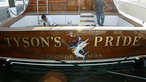tyson39s pride george town boat transom boats transom With boat transom lettering