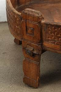 moroccan round wooden tribal table at 1stdibs With tribal carved wood coffee table