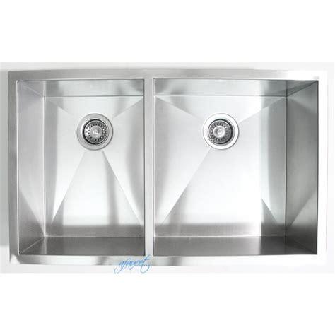 stainless steel undermount kitchen sink double bowl 32 inch stainless steel undermount 40 60 double bowl
