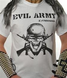 evil army i commander white shirt sleeve