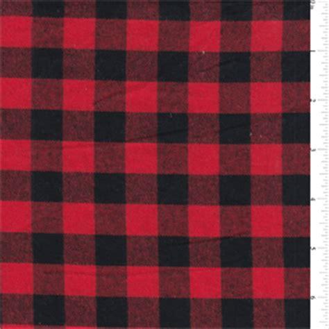 Redblack Buffalo Check Flannel  Op1103 Discount Fabrics