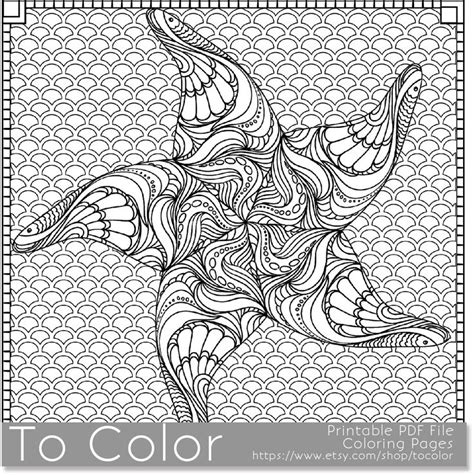 starfish printable coloring pages  adult  jpg