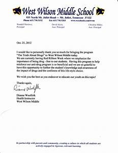 How To Title A Letter Of Recommendation Recommendation Letter Wilson County 2 Drug Free