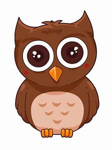 Simple clipart owl - Pencil and in color simple clipart owl