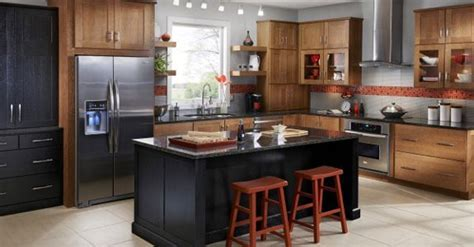 I like the red & gray with dark countertop and lighter