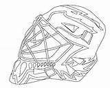 Goalie Hockey Mask Coloring Pages Nhl Jason Colouring Ice Boston Drawing Bruins Logos Printable Template Player Getcolorings Stick Painting Getdrawings sketch template