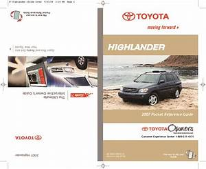 2007 Toyota Highlander Reference Owners Guide