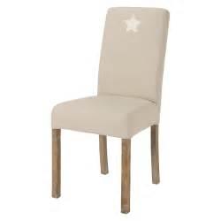 housse de chaise maison du monde housse de chaise étoile en coton beige margaux maisons