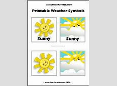 Weather Symbols Worksheets Free New Calendar Template Site