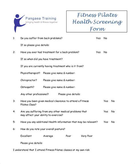 Health Questionnaire Form Template by Questionnaire Zen