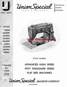 Union Special 56300 U Instruction Manual