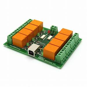 Usb Eight Channel Relay Board  Jqc T73  For Automation