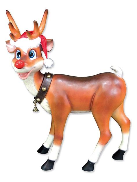 Brown Living Room Decorations by Cute Standing Resin Reindeer Decor 1 1m Large Decor