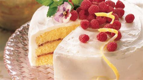 Lemon Raspberry Cake recipe from Betty Crocker