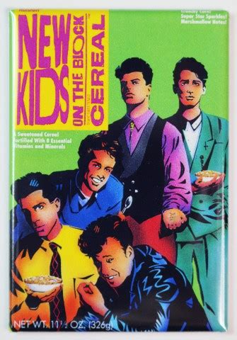 kids   block cereal fridge magnet nkotb kitchen