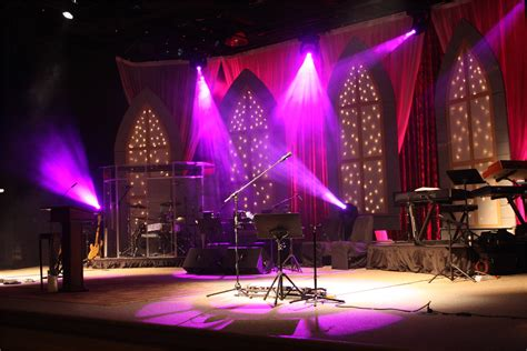 throwback starry church stage design ideas