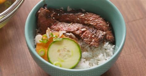 best way to eat steak this korean bbq rice bowl is your new favorite way to eat steak rice bowls korean bbq and bbq