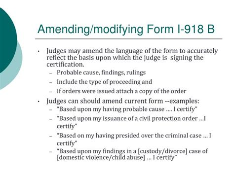form i 918 ppt immigration and family law powerpoint presentation