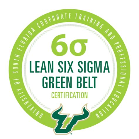 usf lean  sigma green belt certification acclaim