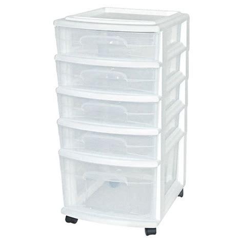 storage cart with drawers 5 drawer medium plastic storage cart white room