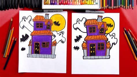 draw  haunted house art  kids hub