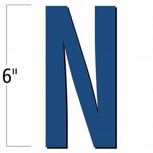 6 inch die cut magnetic letter n blue sku nl mg 6 bu n With 6 inch magnetic letters