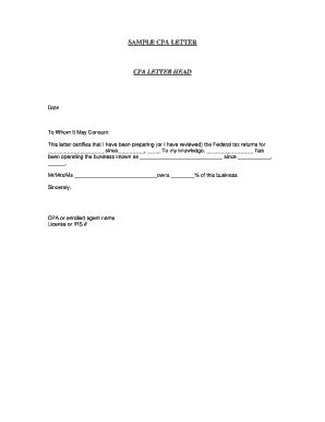 cpa letter    business funds sample edit