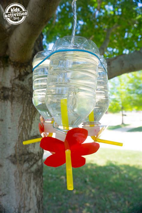 homemade recycled bottle hummingbird feeder nectar recipe