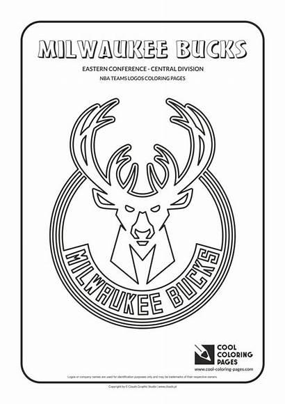 Coloring Nba Bucks Pages Milwaukee Logos Teams