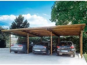 Abri Voiture En Bois : abri voiture bois individuel triple id493 contact ~ Nature-et-papiers.com Idées de Décoration