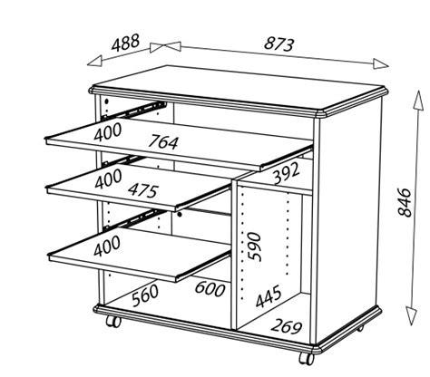 dimension bureau bureau informatique complet en bois merisier lyon