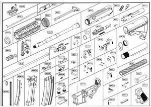 Ghk Rifles  Exploded Diagrams  U0026 Part Numbers