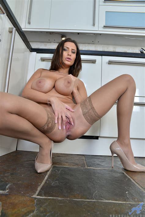 Busty Milf Sensual Jane Spreading Her Pink Pussy Of
