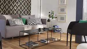 stunning deco salon fauteuil noir ideas design trends With tapis de couloir avec canape tissu xxl