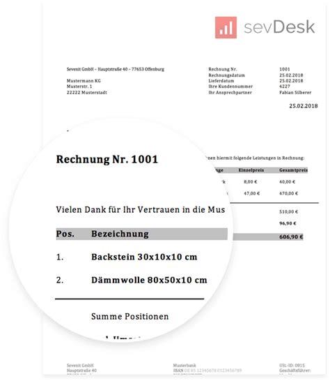rechnungsvorlage fr privatpersonen kostenlos herunterladen