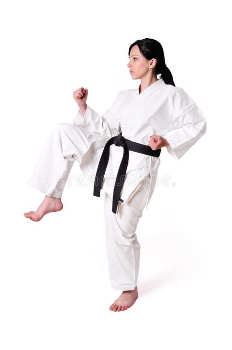 karate woman posing royalty  stock  image