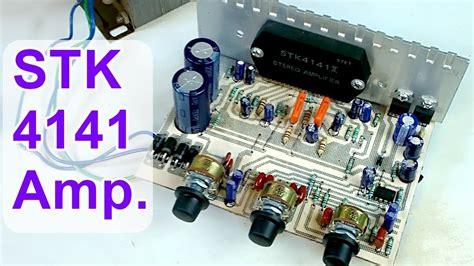 diy audio amplifier board stk  ii hindi electronics