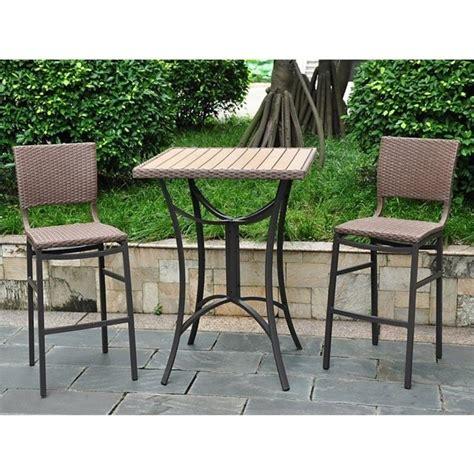 resin wicker aluminum 3 patio bistro set 4215 s 3 abn