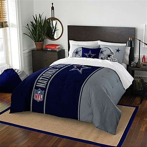 buy nfl dallas cowboys twin embroidered comforter set from