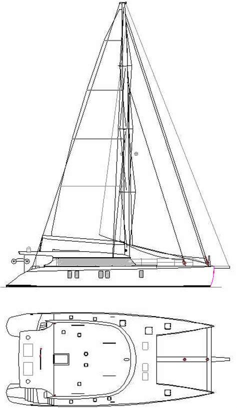 Catamaran Technical Drawing by Catamaran Boat Plans Power Cat 60 Aluminum