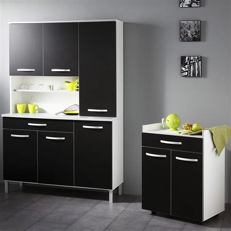 meuble de cuisine noir et blanc buffet de cuisine noir et blanc