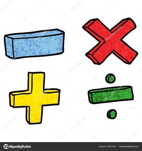 Ilustración Vector Los Símbolos Matemáticas Dibujos