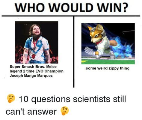 Melee Memes - who would win super smash bros melee legend 2 time evo chion joseph mango marquez some weird