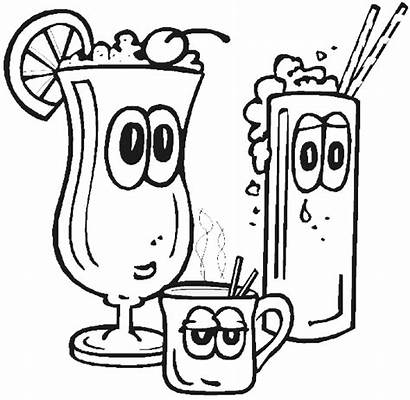 Coloring Pages Drinks Drink Colouring Coloring4free Preschool