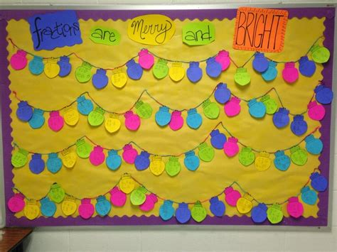 christmas fractions fractions math bulletin boards