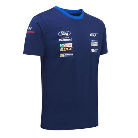Team Ford by Ford Motorsport Mens Team T Shirt Wec Ford Gt Chip