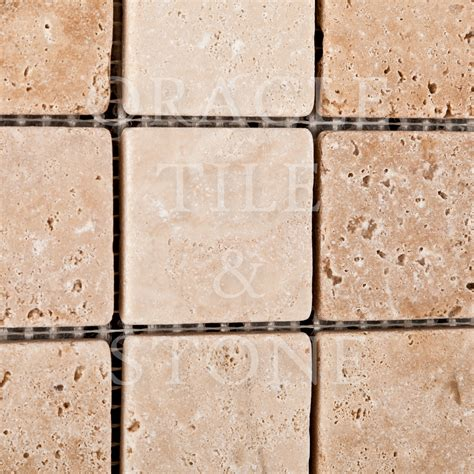 oracle tile and marble andean vanilla travertine 2 x 2 mosaic tile oracle tile