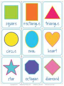Kindergarten Shapes Flash Cards Printable
