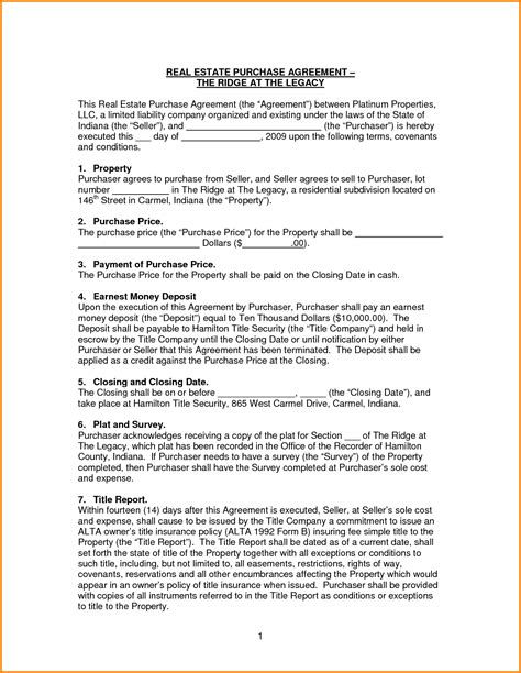 simple real estate purchase agreement template simple purchase agreement template bamboodownunder