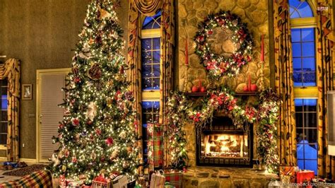 beautiful tree by the fireplace wallpapers